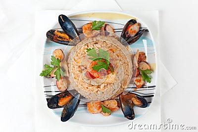 Alla włoski pescatora risotto