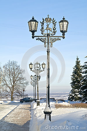 Allée dans Kremlin de Nijni-Novgorod