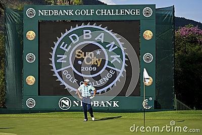 Allenby golfnedbank robert för challenge 2009 Redaktionell Foto