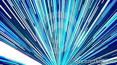 Aller rayons dans la couleur bleue illustration libre de droits