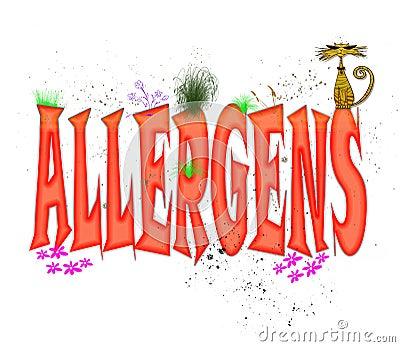 Allergens Typography