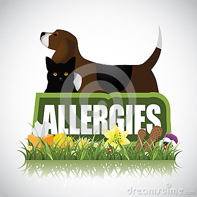 Free Allergies Icon With Dog Cat Plants Peanuts Stock Photography - 48495102