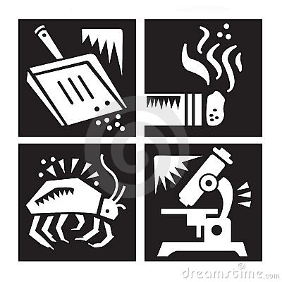 Allergy Research Icon Set