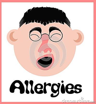 Allergy sneeze face