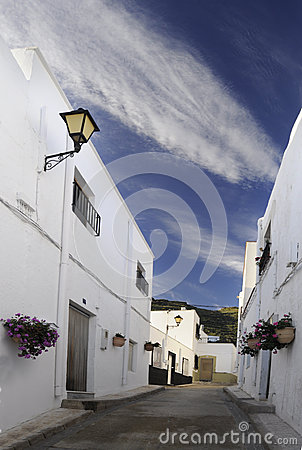 Alley of Andalusian village