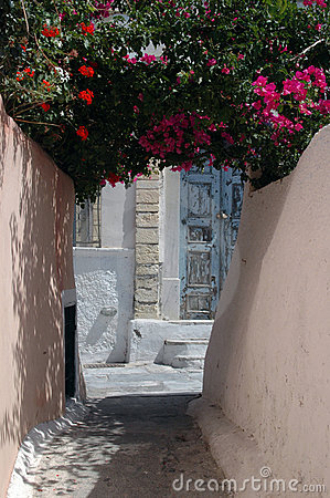 Free Alley In Greek Island Royalty Free Stock Photos - 1466378