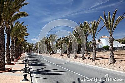 Alley in La Azohia, Spain