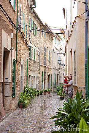 Alley in the mediterranean