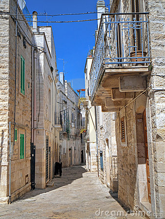 Alley of Oldtown of Giovinazzo. Apulia.