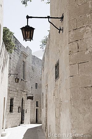 Alley street ancient architecture mdina malta