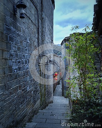 Free Alley Street In Old Town 2 Stock Photography - 80459762