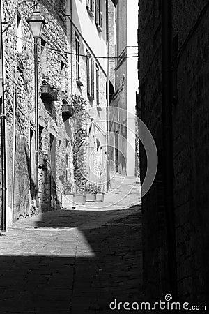 Alleyway.Gubbio. Umbria.