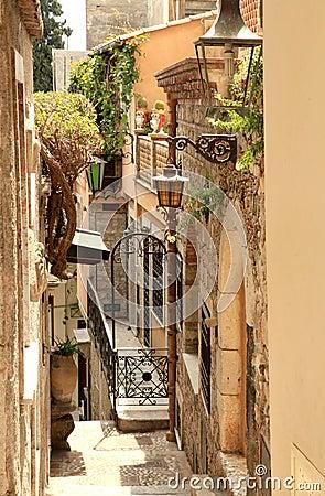 Free Alleyway In Greek City Stock Photos - 25127743