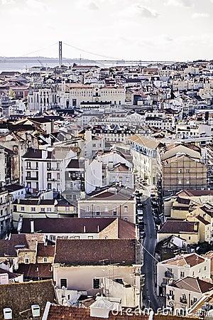 Allgemeine Ansicht Lissabons