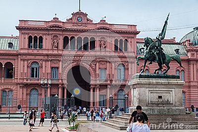 Allgemeine Casa Rosada Argentinien Belgrano Redaktionelles Stockfotografie
