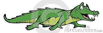 Alligator Cartoon Illustration