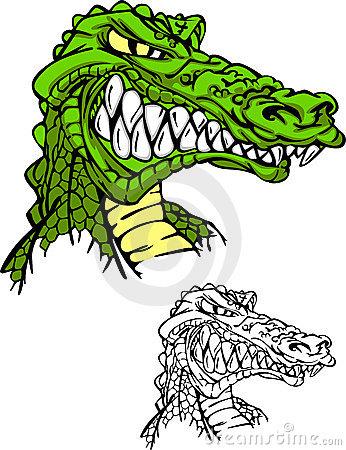 Free Alligator / Gator Head Logo Royalty Free Stock Photography - 14145727
