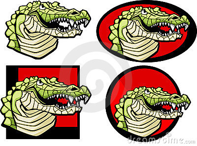 Alligator Mascot Logo