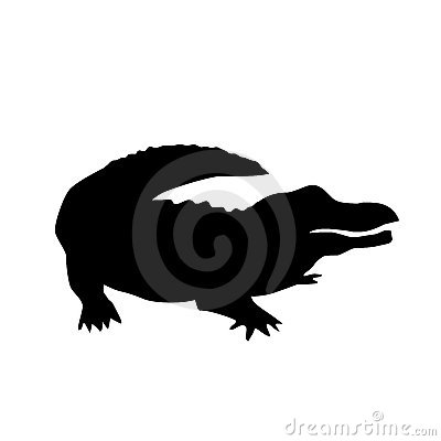 Free Alligator Vector Silhouette Royalty Free Stock Photo - 9058165