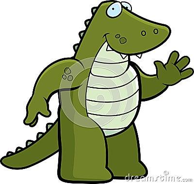 Alligator Waving