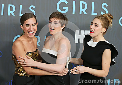 Allison Williams, Lena Dunham, Zosia Mamet Editorial Stock Photo