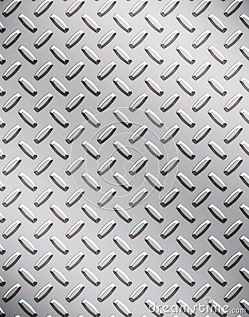 Alloy diamond plate metal