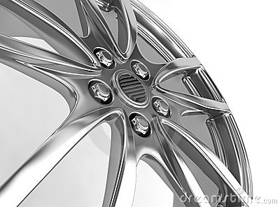 Alloy rim - 3d render