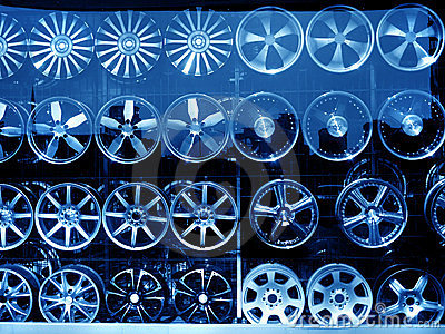 alloy wheel at store