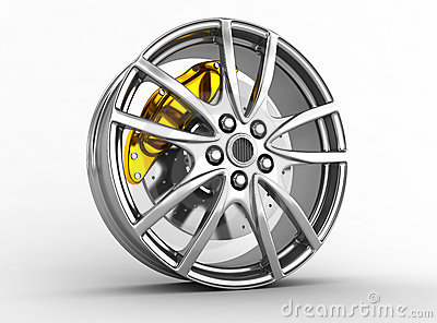 Alloy wheels for sports car
