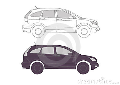 Allroad Car in vectors for presentation