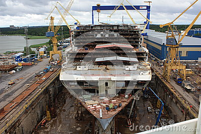 Allure of the Seas construction Editorial Photo