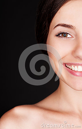 Alluring happy woman