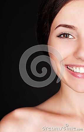 Alluring happy woman