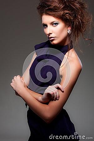 Alluring woman posing