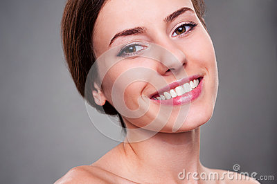 Alluring young woman smiling