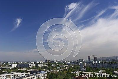 Almaty. Ansicht der Stadt