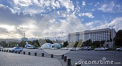 Almaty city. Editorial Stock Photo
