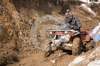 Almaty, Kazakhstan - February 21, 2013. Off-road racing on jeeps, Car competition,  ATV. Traditional race Editorial Photo