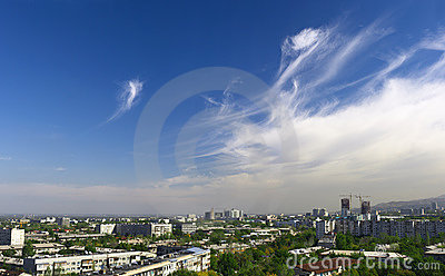 Almaty. View of the big city