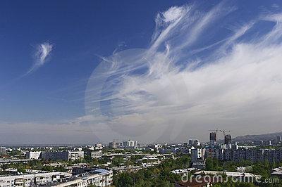 Almaty. Vista della città