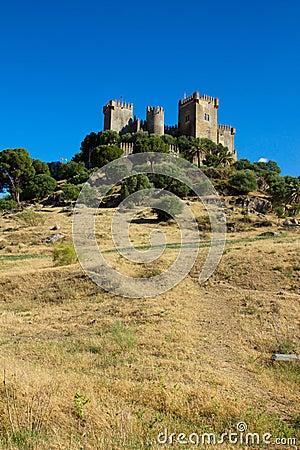 Almodovar del Rio on the hilltop, Cordoba, Spain
