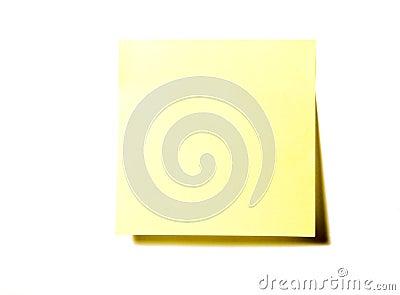 Almofada de nota amarela