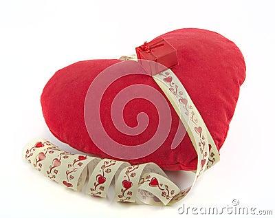Almohada como corazón