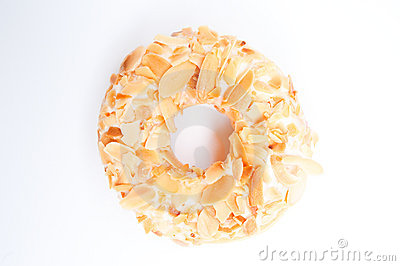 Almond flake donut