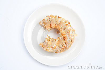 Almond flake donut 2