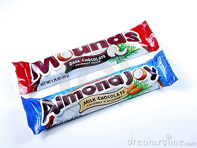 Almond Joy and Mounds bars Editorial Photography