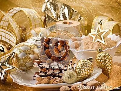 Almond nougat brittle