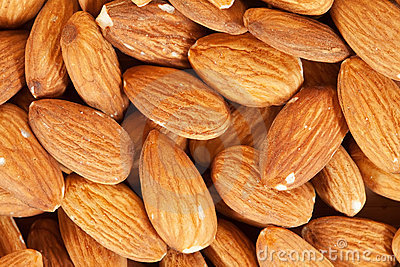 Almond nuts  background