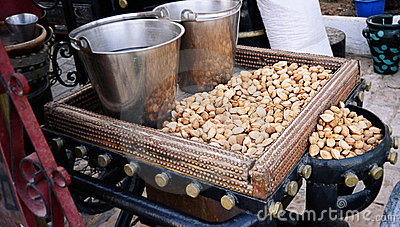 Almond nuts. Tunusia