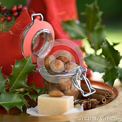 Almond paste potatoes